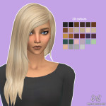 David Sims Rock Hair Retexture | Simista A little Sims 4 Site