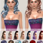 Jennisims: Downloads sims 4: Newsea Hairs Thornbird, Paulina,Marshmallow retextured