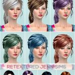 Jennisims: Downloads sims 4: Newsea Lucky Star Hair,Newsea Anthem Hair retextured