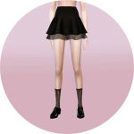 Sims4 Marigold | double flared mini skirts_더블 플레어 미니 스커트_29 colors …