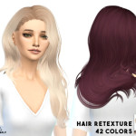 MISSPARAPLY ts4 hair retexture / sintinklia hairs