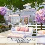 Pralinesims' Villa Cupcake