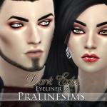 Pralinesims' Dark Edge Eyeliner Duo