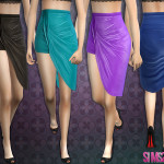 sims2fanbg's 56 – Side split skirt