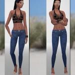 Pinkzombiecupcakes' Dark Skinny Denim Jeans
