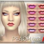 tsminh_3's Peach Color Lipstick + teeth