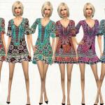 melisa inci's Short Sleeve Printed Dress