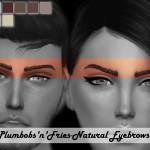 Plumbobs n Fries' Natural Eyebrows