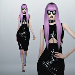 FashionRoyaltySims' Chromat Latex Dress