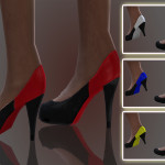 SIMSCREATIONS13's Black And Coloured Shoes.