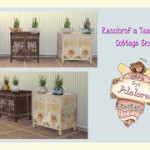 Alelore Sims Blog: COTTAGE END TABLE & TEAPOT PLANTER