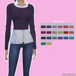 Sweater Over Blouse Retexture | Simista A little Sims 4 Site