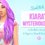 Kiara's Mysterious Hair – Pooklet'd & Nyren's Pastels – Updated! | SimBlob