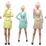 Hana's Sims  trench coat