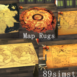 89simstrees — Map Rugs Are my newest Custom Content for the Sims…