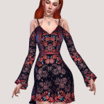 Salem — Cold shoulder swing dress (TS4) standalone 4…
