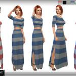 DarkNighTt's Stripped Beach Dress