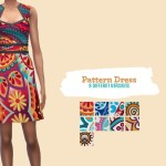 midnightskysims' Mid pattern dress – Perfect Patio SP needed