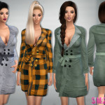sims2fanbg's 78 – Bow belt coat