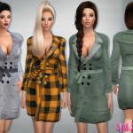 sims2fanbg's 78 – Bow belt coat