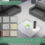 Pralinesims' Granite Floor Tiles