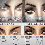 Pralinesims' Poem Eyes | 15 Colors / N27