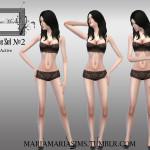 MariaMariaSims' MariaMaria CAS Pose Set №2