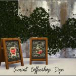 SimGirlNextDoor's Quaint Coffeeshop Sign