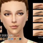 S-Club WM thesims4 Eyebrows 04F