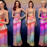 Harmonia's Bead Embellishment Silk Maxi Dress