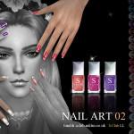 S-Club LL ts4 Nail Art N02