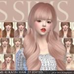 [JS SIMS 4] Raon Hair 27 Edited | JS SIMS