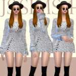 [JS SIMS 4] Loose Knitting Sweater | JS SIMS