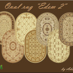 "My Sims city block: Oval carpet ""Eden 2"" (The Sims 4)"