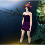 Jennisims: Downloads sims 4:Painting Screenshot Backdrop, Happy Halloween!!