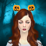 Jennisims: Downloads sims 4:Headband Pumpkin, Balloons Halloween Male /Female