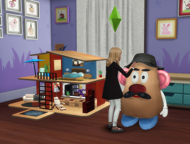 Sims 4 Large Toys Dollhouse And Mr Potato Pqsim4