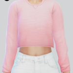 ☾  TS4 Cropped Sweater