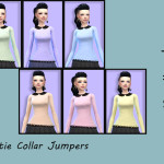 Five by Five • Female Cutie Collar Jumpers Ea's mesh Base game…
