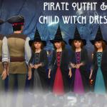 pirate costume &Child witch costume