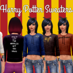 Rickeygirl24 – Harry Potter Sweaters For Sims 4 Part 1 of 2…