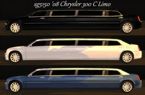 Sg5150 Sg5150 2008 Chrysler 300 C Limo Sims 4 Updates
