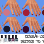 Bernie's Sims 4 Simblr  (UNISEX) Deborah Lippmann 'Dressed To The Nines' Nail Polishes for TS4!