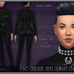 SrslySims, **Srsly's PVC Catsuit and Spiked Choker** For…