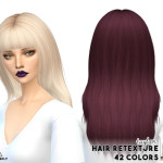 MISSPARAPLY | [S4] Hair retexture / Ade hairs 42 colors Custom…