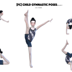 Flower Chamber Children Gymnastic Poses