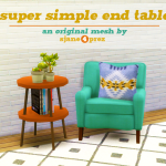 Hello! So here is a super simple round end table…. – 4 Prez Sims 4