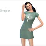 Med and Sims 4 – I really like this kind of dresses, simple shape…