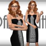 DarkNighTt's Metallic Paneled Dress