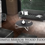 Pralinesims' Simple Mirror Wood Floors